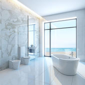 White bathroom — Foto Stock