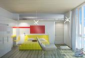 Luminosa camera da letto — Foto Stock