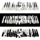 Broken piano — Stockfoto