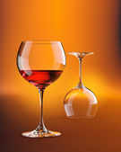Two wineglasses — Stock Photo