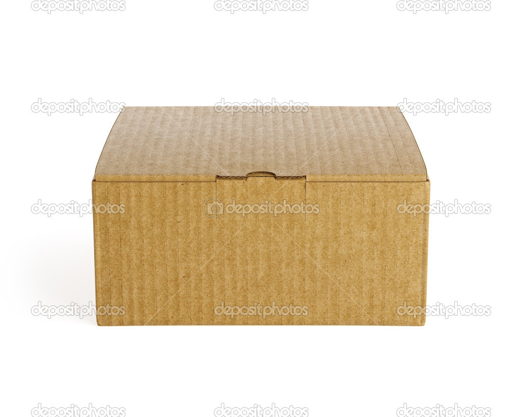 Brown isolated box. High resolution 3d render — Stock Photo #13990117