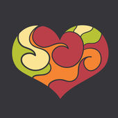 Hjärtan — Stockvektor