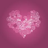 Сердце спираль — Cтоковый вектор