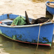 Stock Photo: Blue fishing boat