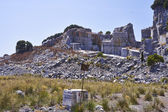 Black and gold marble quarry — Stock Photo