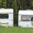 Stock Photo: Old caravans