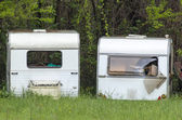 Old caravans — Stock Photo