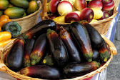 Eggplant in a market — Stock Photo