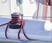 Sailboat winch — Stock Photo