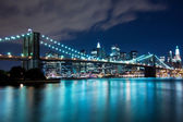Ponte di brooklyn e manhattan, new york — Foto Stock