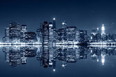 Manhattan at night — Stockfoto