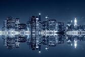 Manhattan's nachts — Stockfoto