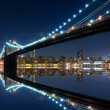 Brooklyn Bridge and Manhattan with reflections — Stock Photo #23731035