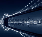 La ville de new york, le pont de brooklyn — Photo