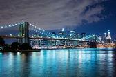 Brooklyn Bridge at night — Stock Photo