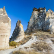 Bizzare rock formations in Cappadocia — Stock Photo