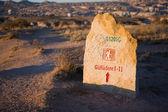 Teken van toeristische pad in cappadocië — Stockfoto