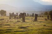 Antiguo cementerio en ahlat — Foto de Stock