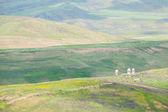 Cementerio en kirguistán — Foto de Stock