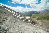 Wandelpad in hoge bergen — Stockfoto