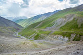 Serpentine road. View from Kegety pass — Stock Photo