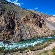 Wild water of Kekemeren river in Tien Shan — Stock Photo