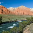 Colourful rocks and Kekemeren river, Kyrgyzstan — Stock Photo #35693013