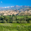 Tien Shan mountains and valley — Stock Photo
