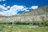Aguas verdes del río kekemeren, Tian-shan — Foto de Stock