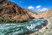 Kekemeren river in Tien Shan mountains, Kyrgyzstan — Stock Photo