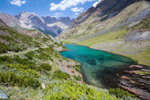 Wonderful mountain lake, Tien Shan, Kyrgyzstan — Foto de Stock