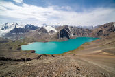 View of alpine mountain lake Ala-Kul — Stock Photo