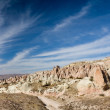 Stock Photo: Fairy chimneys under blue sky, cappadocia