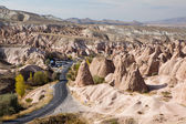 Fairy chimneys landscape in Cappadocia — Stock Photo