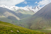 Snowy mountain peaks, Tien Shan — Stock Photo