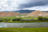 Countryside in Kyrgyzstan — Foto Stock