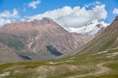 Landscape of mountains with snow peaks, Tien Shan — Stock Photo