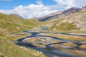 Mountain river Jil-Suu in Kirgizstan — Stock Photo