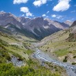 Rapid Djuku river in Kyrgyzstan — Stock Photo