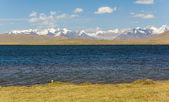 Alpine lake in TIen Shan mountains — Stock Photo
