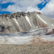 Ice glacier at Kok-Airyk pass in Kyrgyzstan — Stock Photo