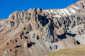 Sharp rocks in Tien Shan mountains — Stock Photo