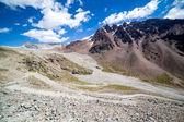 Twisting mountain road in Kirghizia — Stock Photo