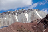 Multi-colored bald mountains. Tien Shan — Stock Photo