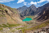 Amazing mountain lake in Kirghizia — Stock Photo