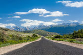Road in Tien Shan mountains — Stock Photo