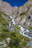Cascade river in mountains of Tien Shan — Stock Photo