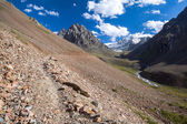 Path in amazing Tien Shan mountains — Stock Photo