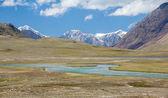 Panorama of Arabel-Suu river and lake. Kyrgyzstan — Stockfoto