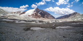 Panorama av tien shan mountains — Stockfoto